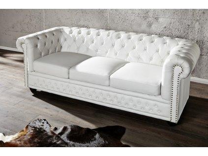 Luxusní pohovka - Alessandro, trojitá bílá