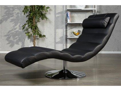 Luxusní lehátko - Modena, černá