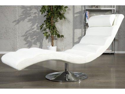 Luxusní lehátko - Modena, bílá