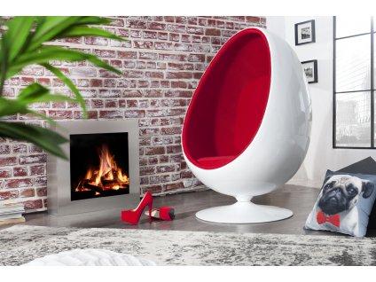 Designové křeslo - Drago, bílo-červené