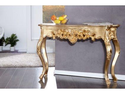 Klasický konferenční stolek - Rococo, zlatý