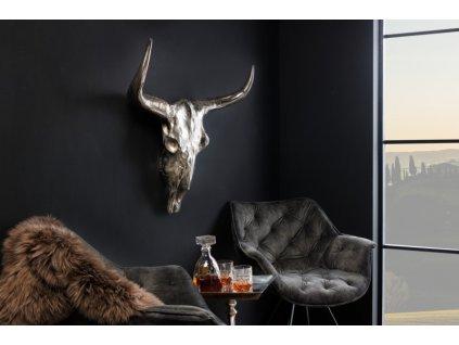 Dekorační parohy - Buvol, kov velké