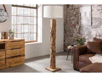 Moderní stojací lampa - Claire, světlá
