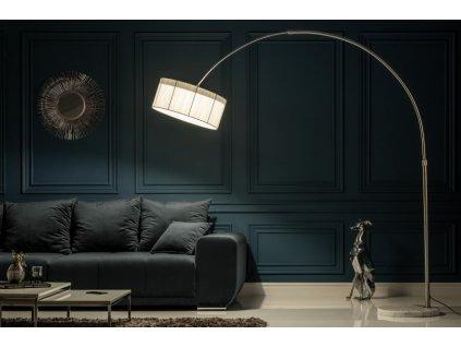 Moderní stojací lampa - Albina, světlá