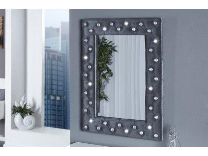 Moderní nástěnné zrcadlo - Futura, šedé
