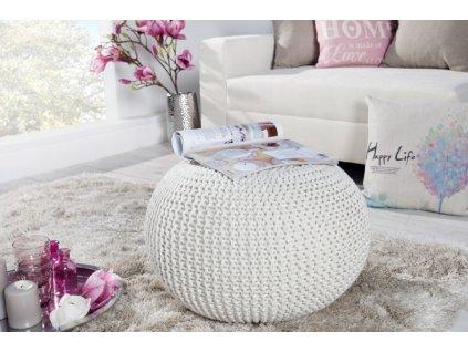 Stylový taburet - Imagine, bílý