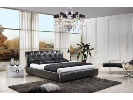 Moderní kožená postel - Roberta
