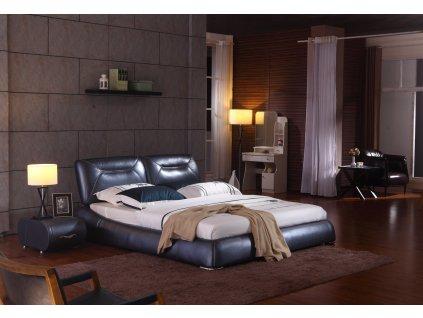 Moderní kožená postel - Brenda