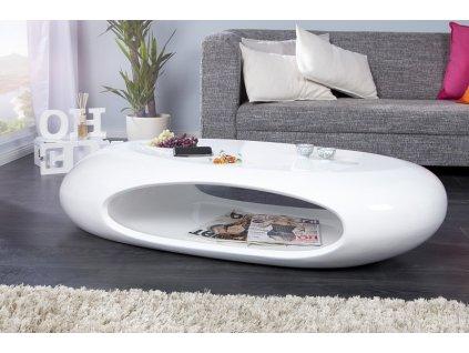 Moderní konferenční stolek - Eliseo, bílý