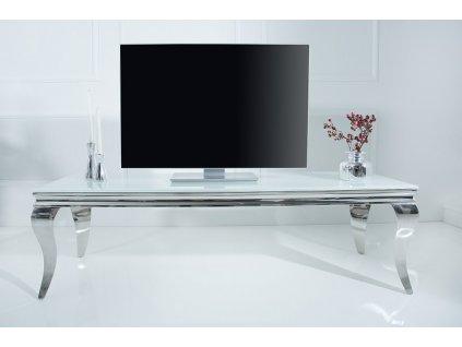 Moderní televizní stolek - Barocco,stříbrný