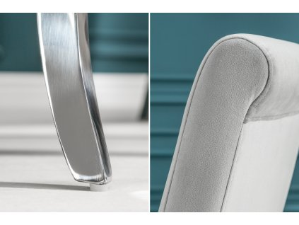 Designová židle - barocco,stříbrná