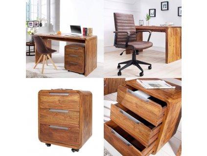Moderní psací stůl, kontejner a křeslo