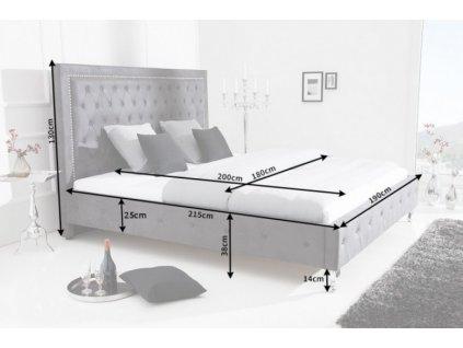 Moderní postel  Extravagancia - šedá