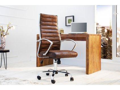Moderní kancelářské křeslo - Jessie, hnědé