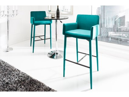 Moderní barová židle - Milano, auqa