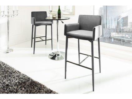 Moderní barová židle - Milano, šedá