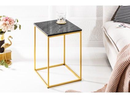 Moderní odkládací stolek - Noble,černý
