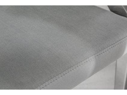 Designová židle - barocco,šedá s opěrkami