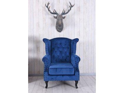 Luxusní křeslo - Benito, modré