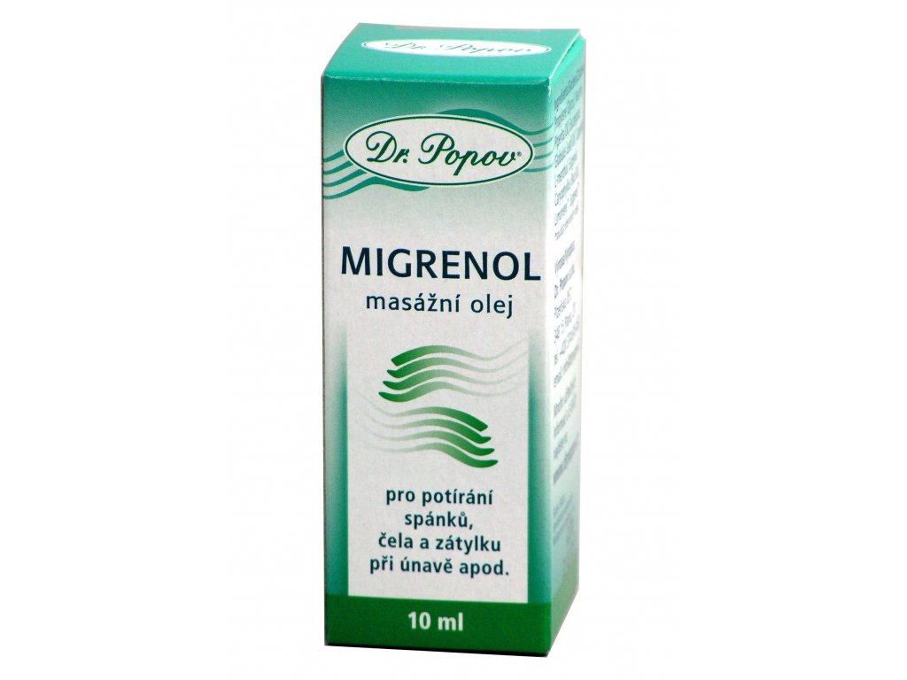 Migrenol - masážní olej - 10ml - Dr. Popov