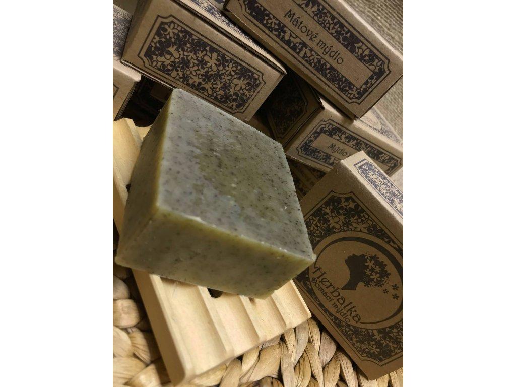Mátové mýdlo 105g Herbalka