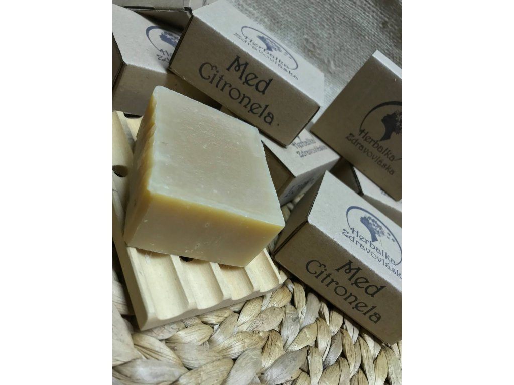 Med citronela šamponové mýdlo Herbalka