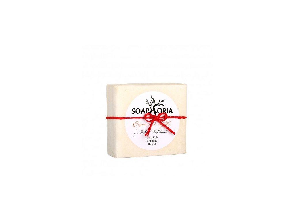 Organické mýdlo na lupénku, ekzém a problematickou pokožku s vlastní tinkturou 150 g Soaphoria