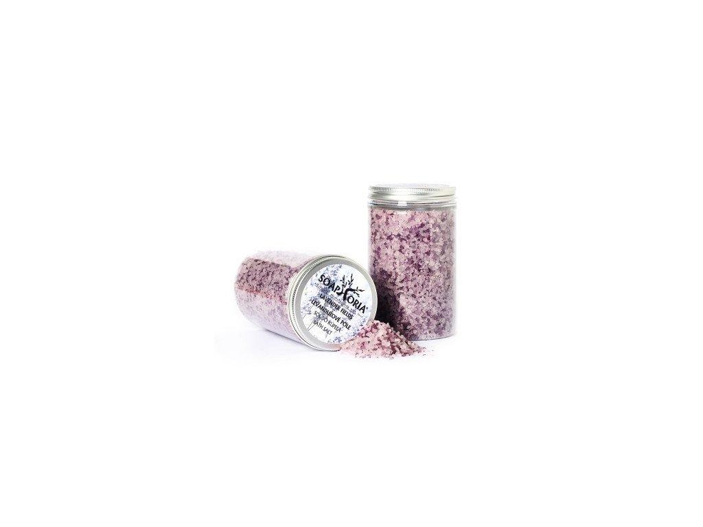 Levandulové pole přírodní sůl do koupele Soaphoria