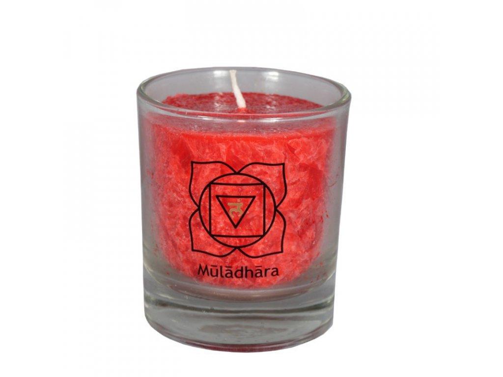 Mini čakrová svíce červená - Cereus