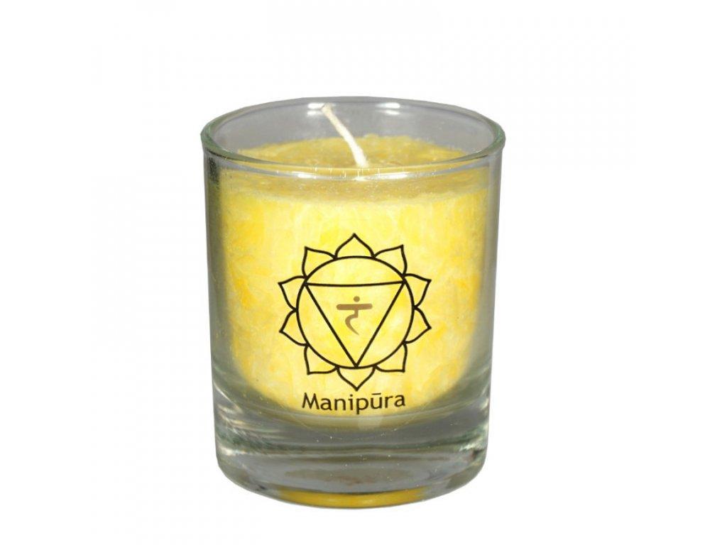 Mini čakrová svíce žlutá - Cereus