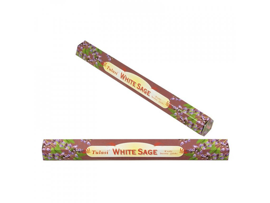 White Sage (Bílá šalvěj) vonné tyčinky 20 ks Tulasi
