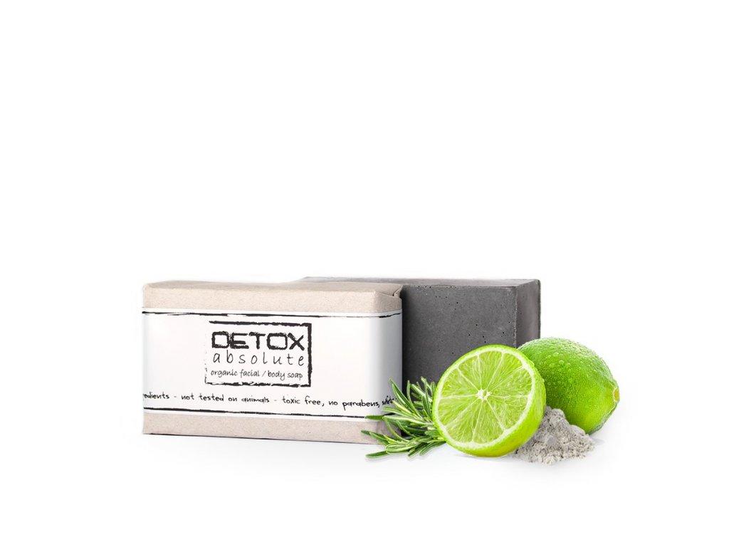 Organické mýdlo na tvář 100g DETOX absolute Soaphoria
