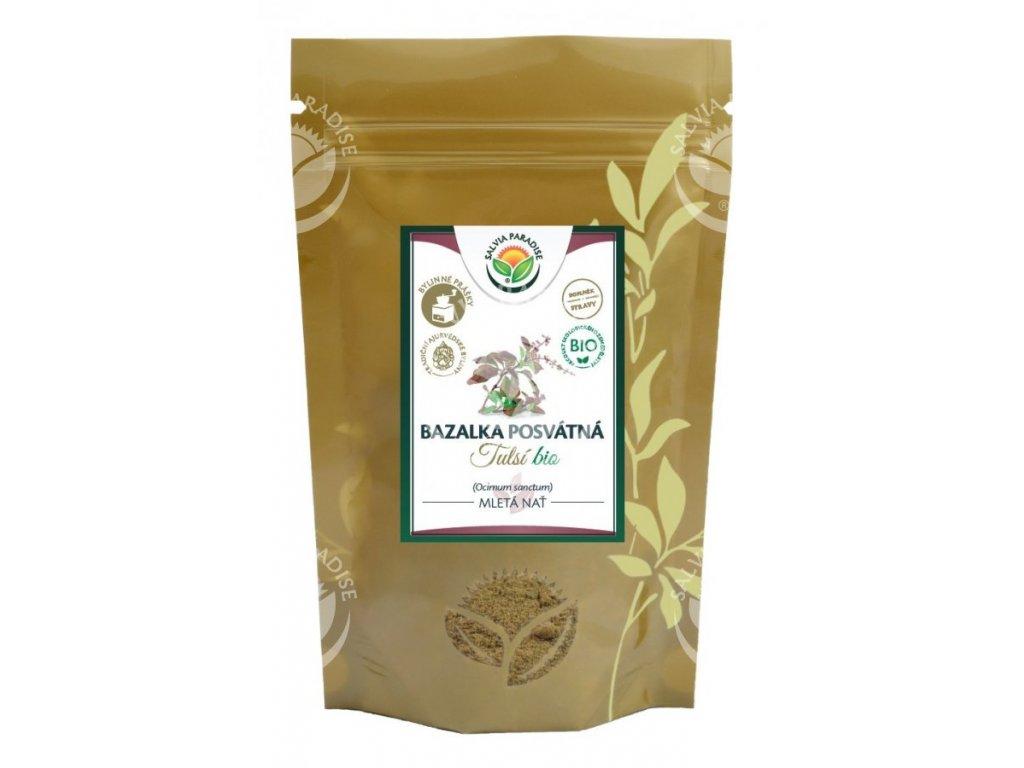 Tulsí bazalka posvátná mletá BIO 100 g Salvia Paradise