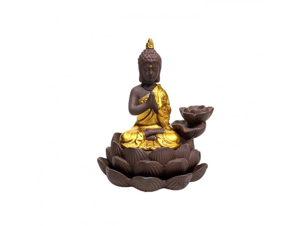 STOJÁNEK PRO VONNÉ KUŽELY S TEKOUCÍM KOUŘEM BUDDHA