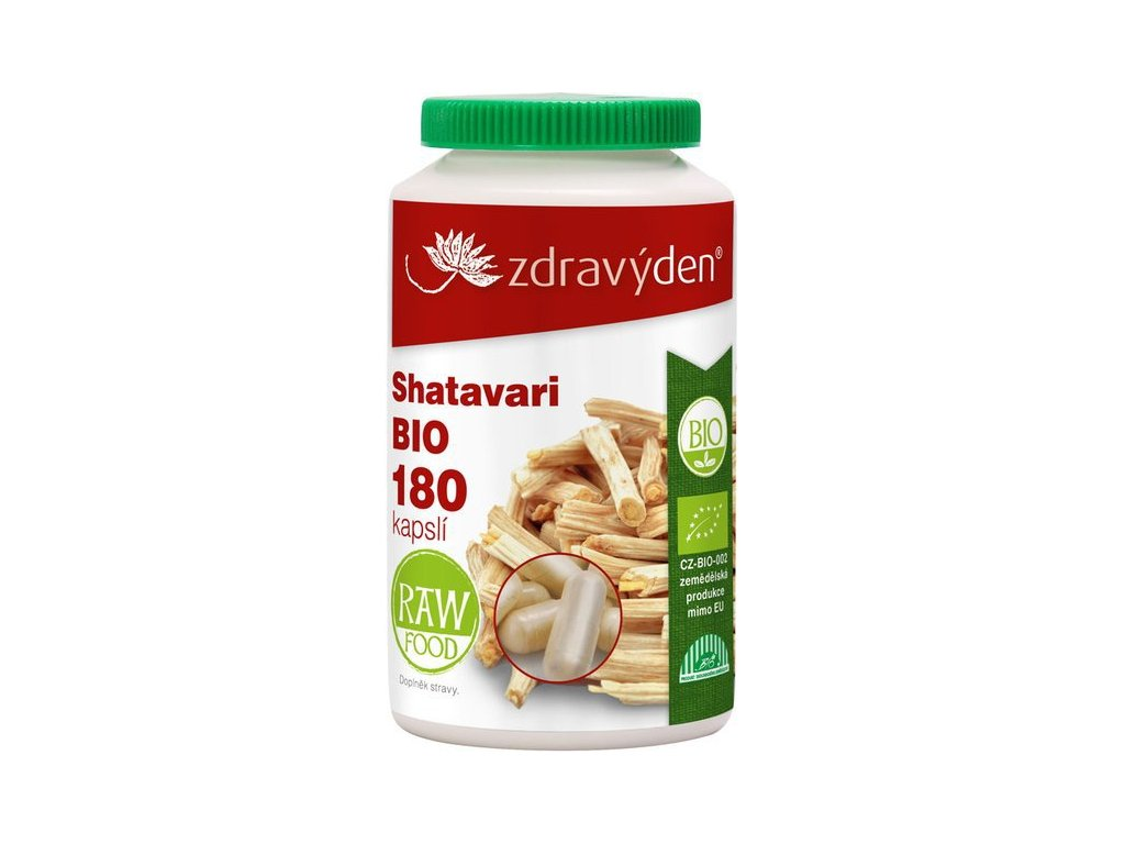 Shatavari BIO - 180 kapslí - Zdravý den