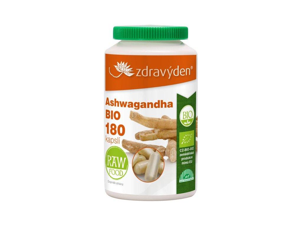 Ashwagandha BIO - 180 kapslí - Zdravý den