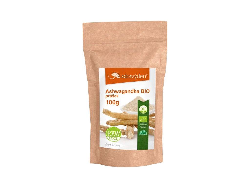 Ashwagandha BIO prášek 100 g Zdravý den