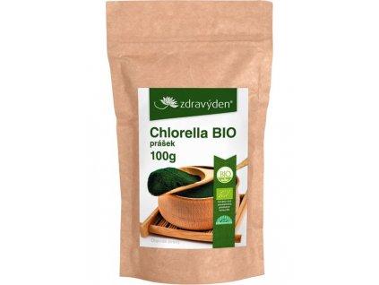 Chlorella BIO prášek 100g Zdravý den