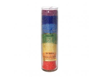 Čakrová svíce 7 čaker - velká - Cereus