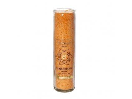 Čakrová svíce oranžová - velká - Cereus