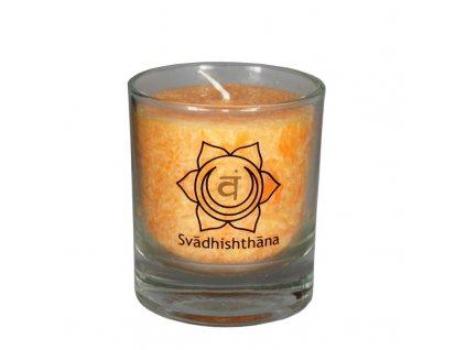 Mini čakrová svíce oranžová - Cereus