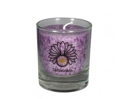 Mini čakrová svíce fialová - Cereus