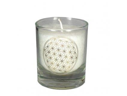 Mini čakrová svíce bílá - Cereus
