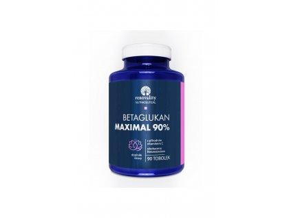 Betaglukan 90% MAXIMAL s Vitamínem C přírodního původu 90 tobolek, doplněk stravy Renovality