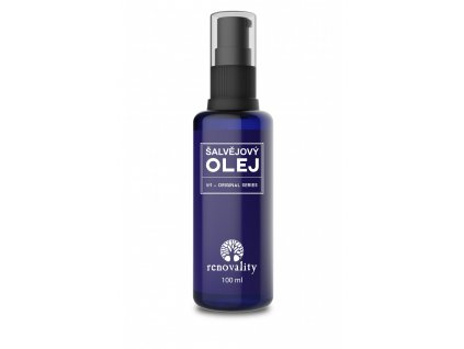 Šalvějový olej 100 ml s pumpičkou Renovality
