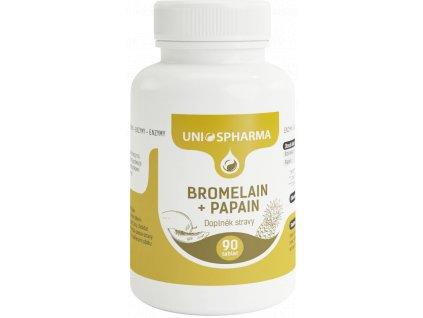 Bromelain + Papain : 90 tablet Unios Pharma