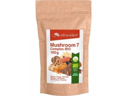 Mushroom 7 Complex BIO 100g Zdravý den