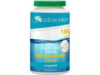 Magnesium citrát (hořčík) - 180 kapslí - Zdravý den