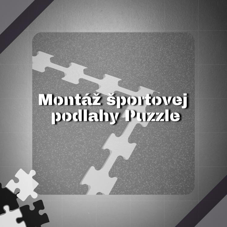 Montáž športovej gumenej podlahy puzzle