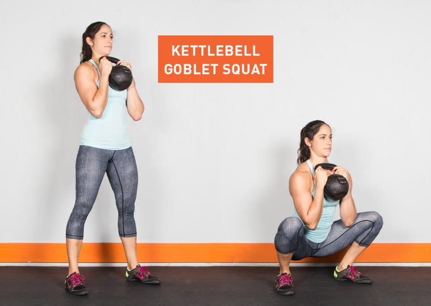 Kettlebell-Goblet-Squat